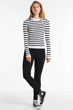 gestreepte trui Zoe wit/zwart