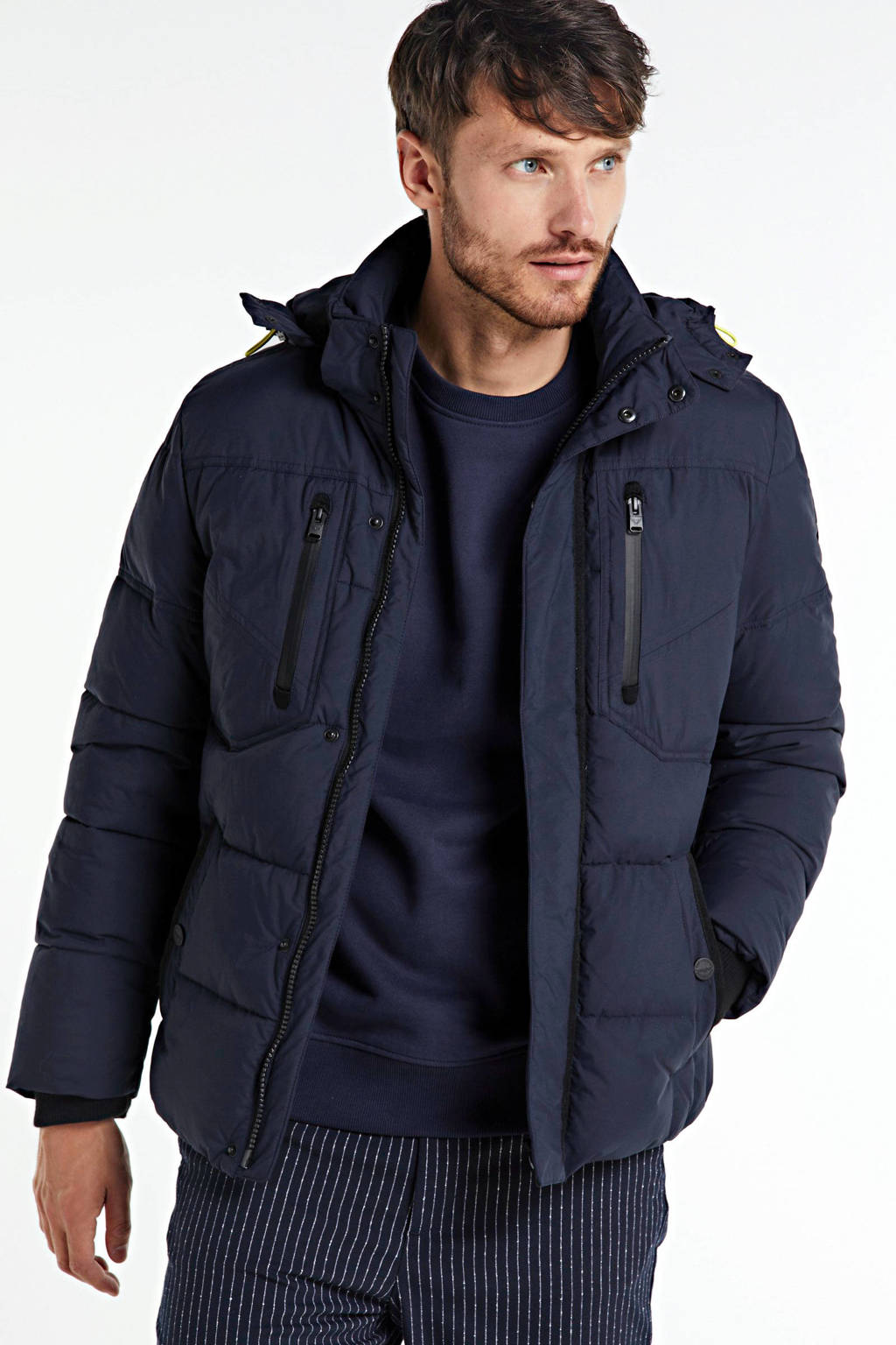 PME Legend winterjas donkerblauw, Donkerblauw