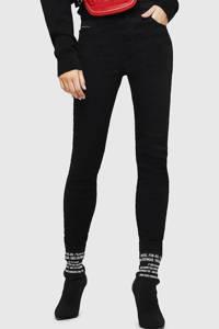 Diesel high waist skinny jeans Slandy zwart, Zwart