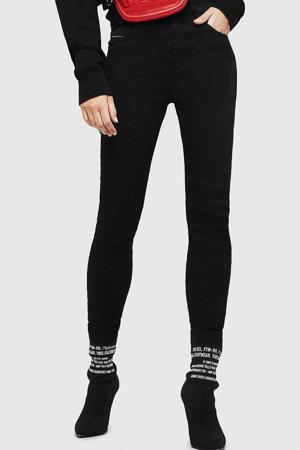 high waist skinny jeans Slandy zwart