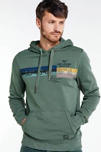 PME Legend hoodie met printopdruk kaki, Kaki