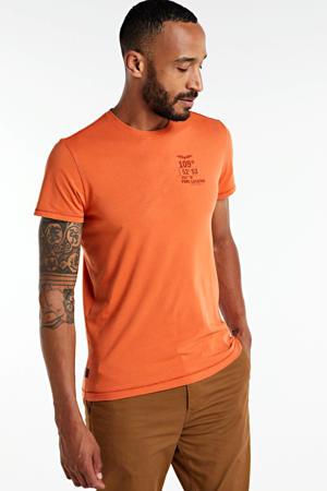 T-shirt met logo oranje