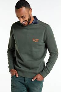 PME Legend sweater met logo donkergroen, Donkergroen