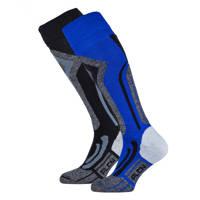 Falcon skisokken blauw/zwart (set van 2), Blauw/zwart