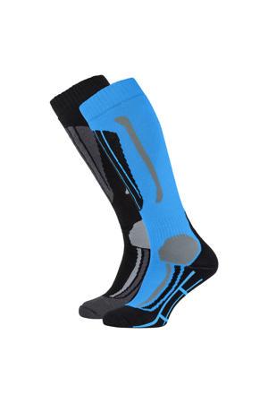 skisokken Victoria zwart/blauw