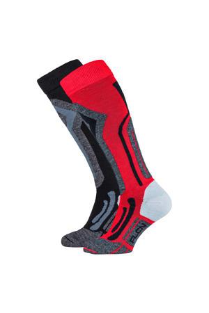 skisokken rood/zwart (set van 2)