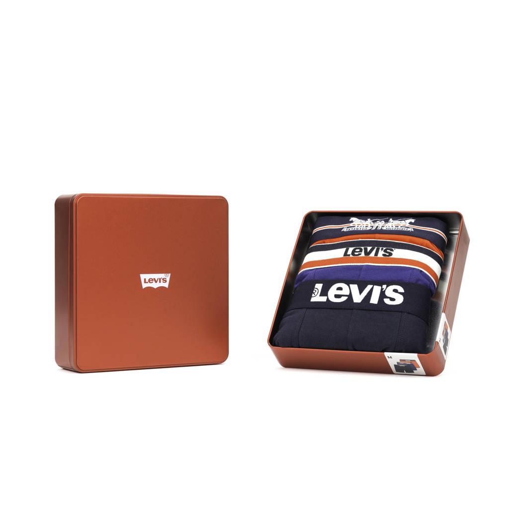 Levi's giftbox boxershort (set van 3), Groen/grijs