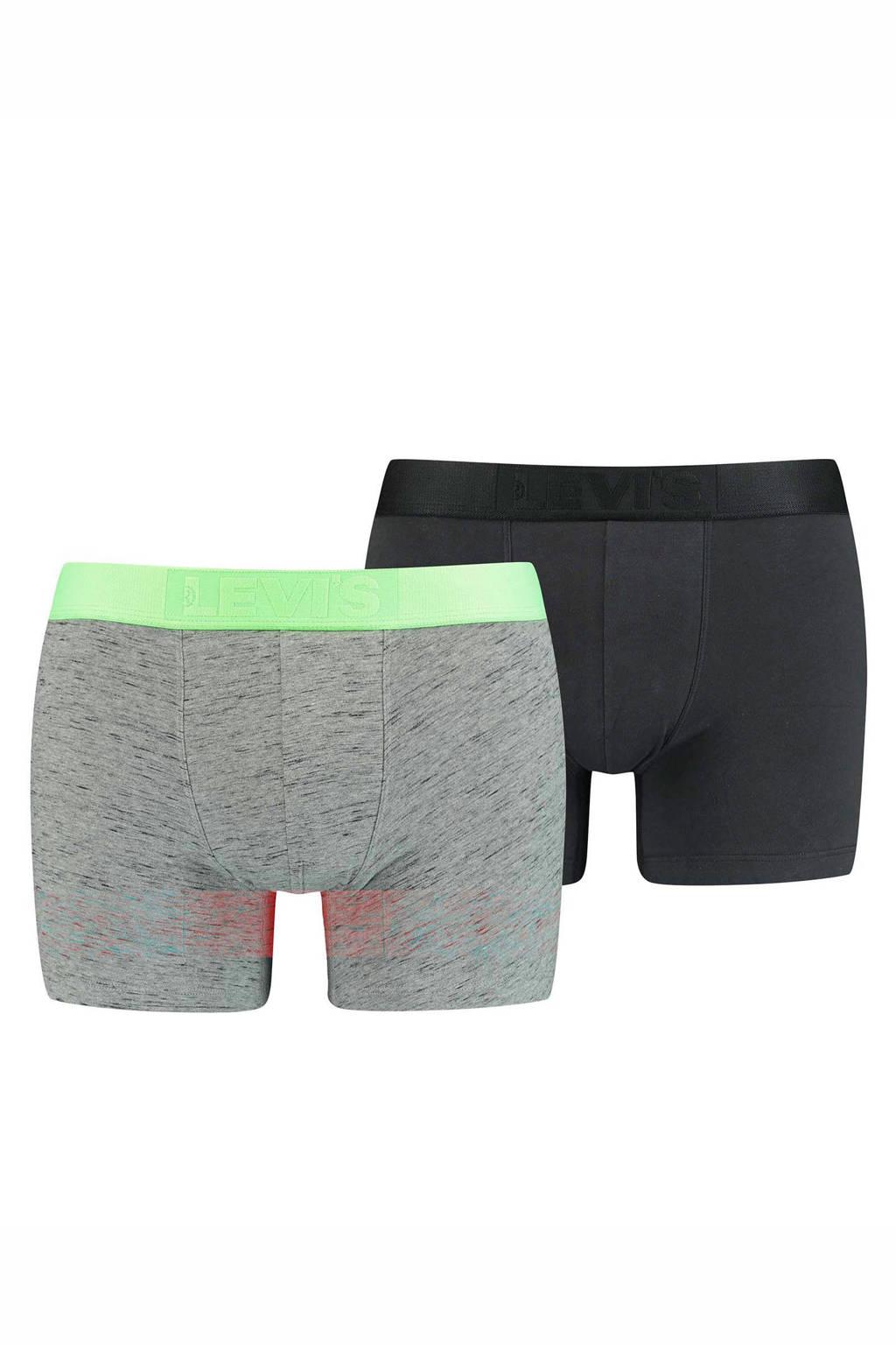 Levi's boxershort (set van 2), Zwart/groen
