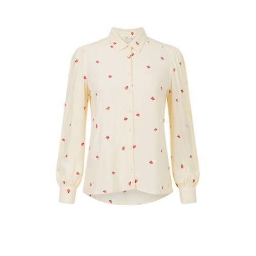 Steps blouse met all over print geel