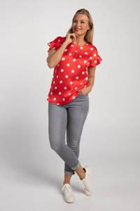 PROMISS top met stippen en ruches rood/wit, Rood/wit