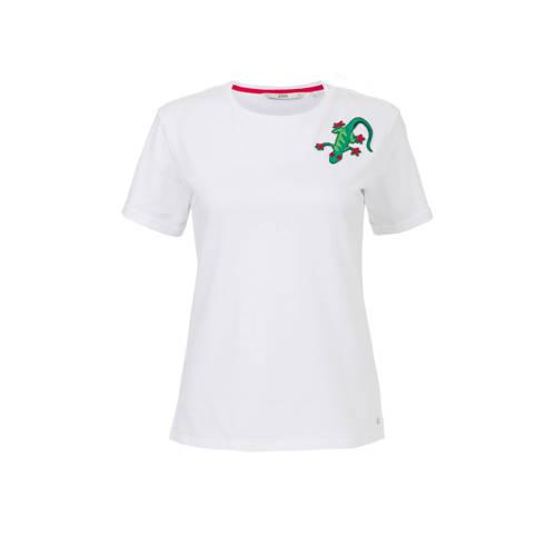 Steps T-shirt met printopdruk wit