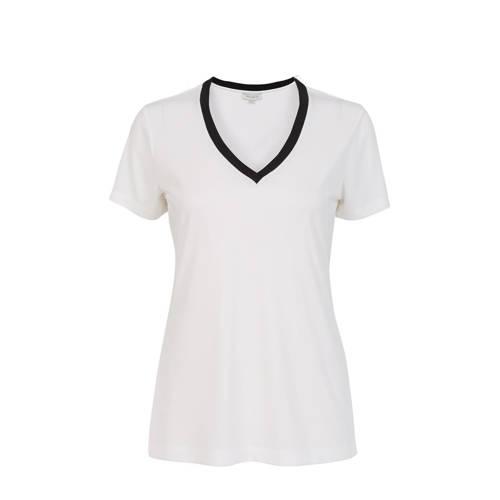PROMISS T-shirt met contrastbies en contrastbies w