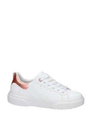 sneakers wit/roségoud