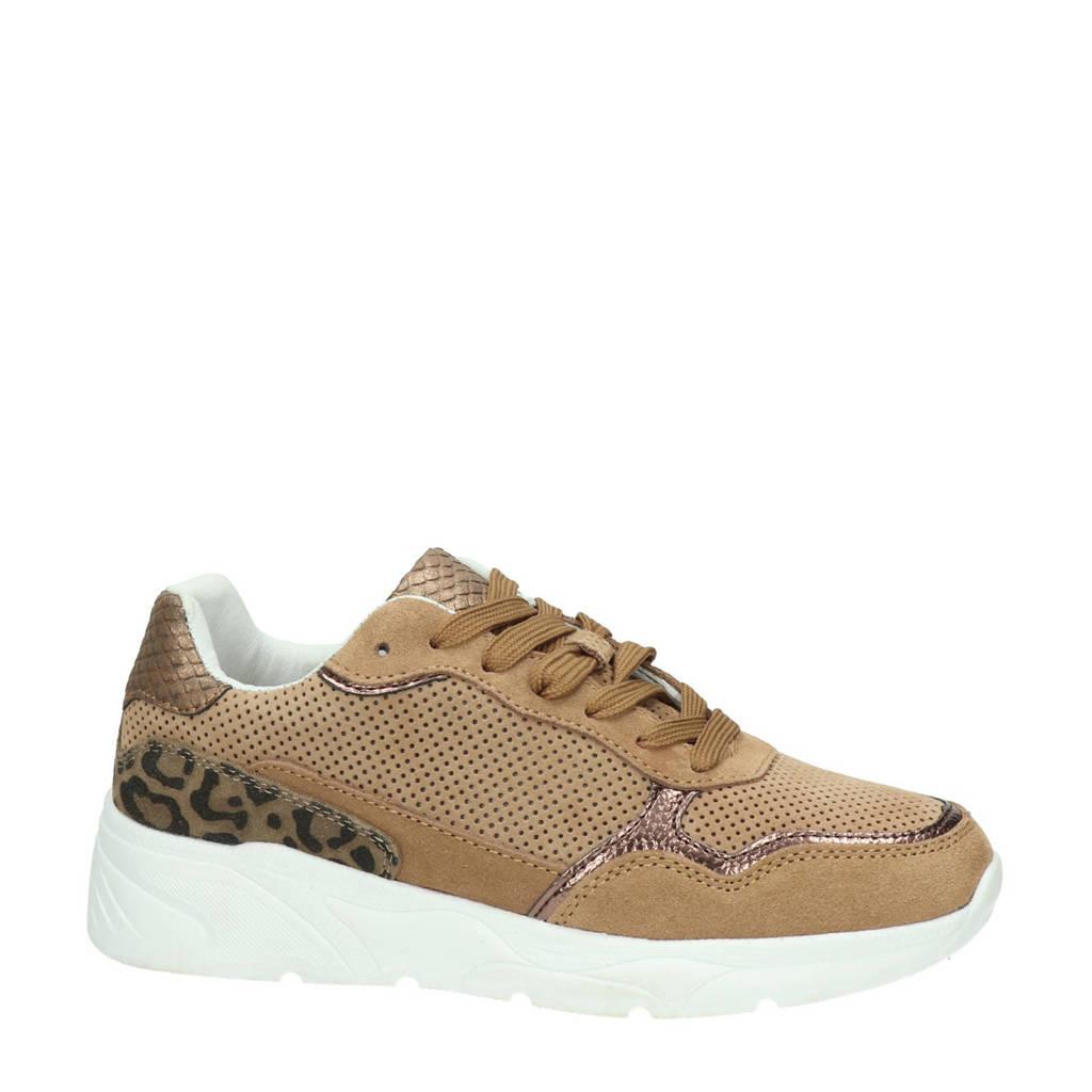 Nelson   suède sneakers bruin/panterprint, Bruin
