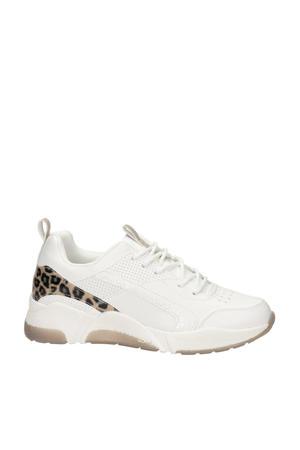 sneakers wit/panterprint
