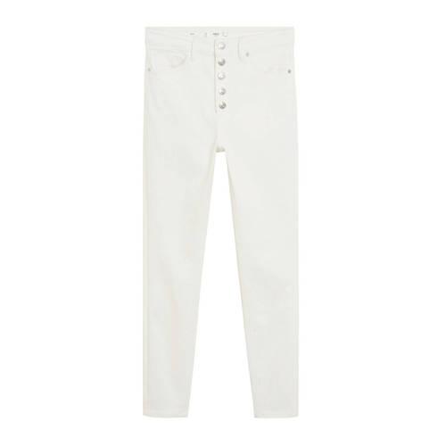 Mango high waist skinny jeans wit