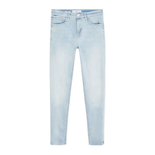 Mango cropped skinny jeans lichtblauw