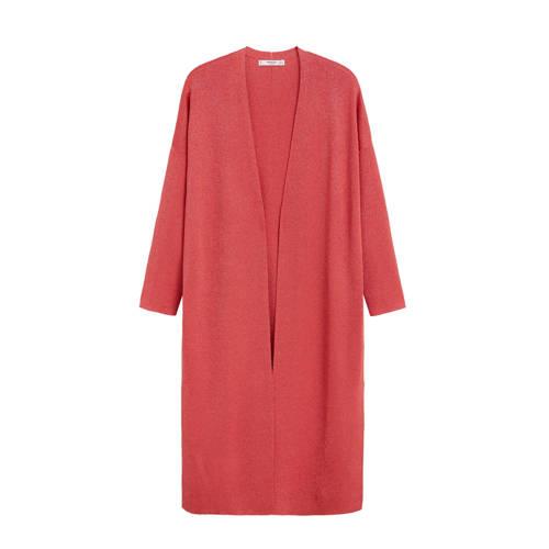 Mango vest met glitters roze