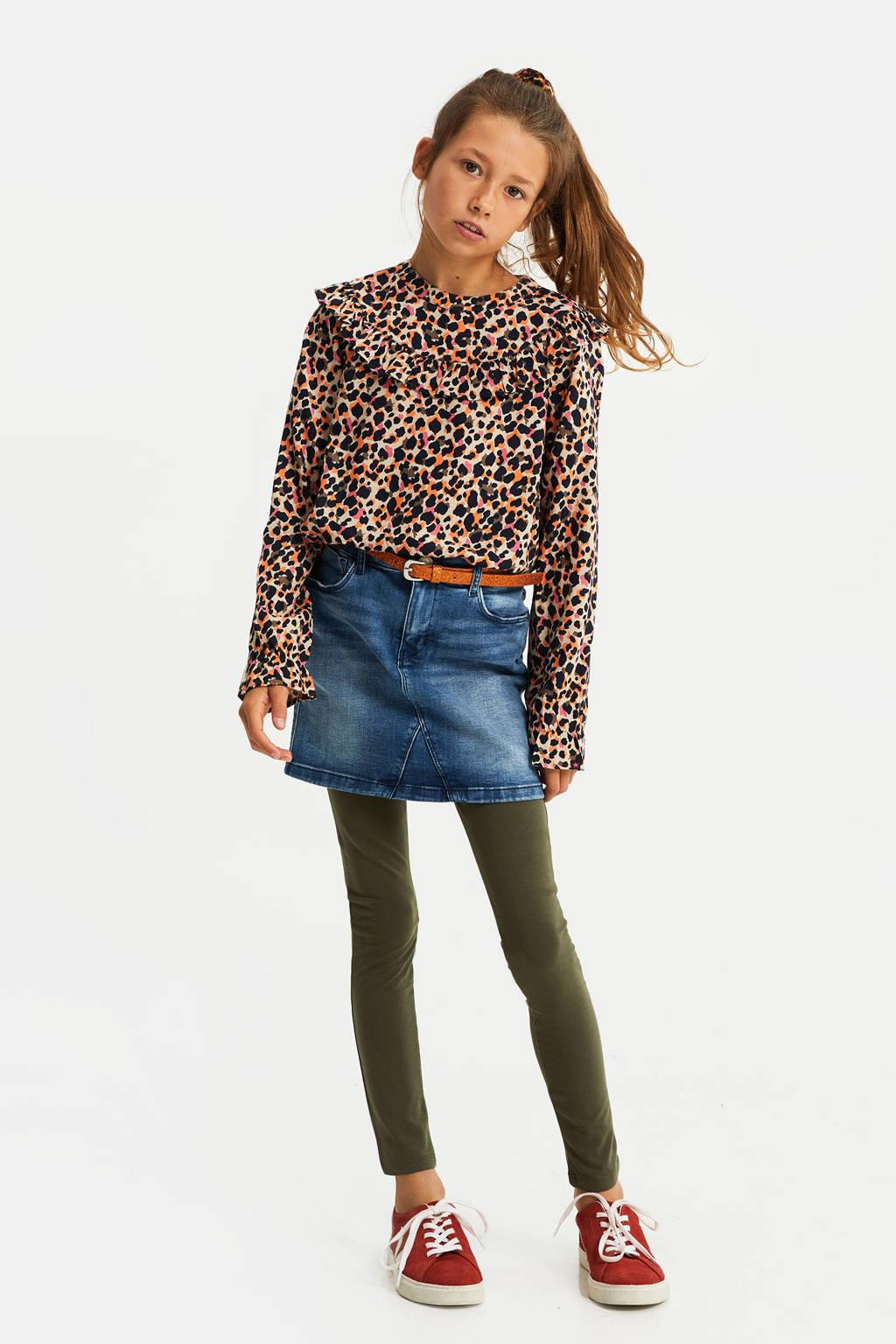 WE Fashion legging olijfgroen, Olijfgroen