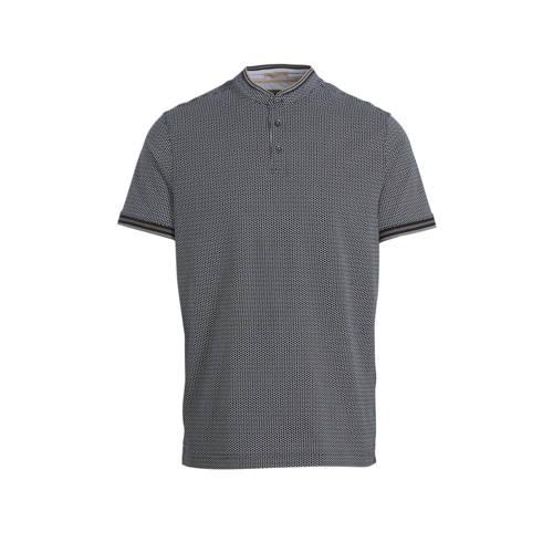 C&A regular fit polo met all over print blauw/
