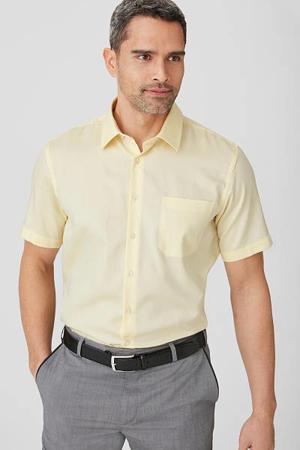 regular fit overhemd geel