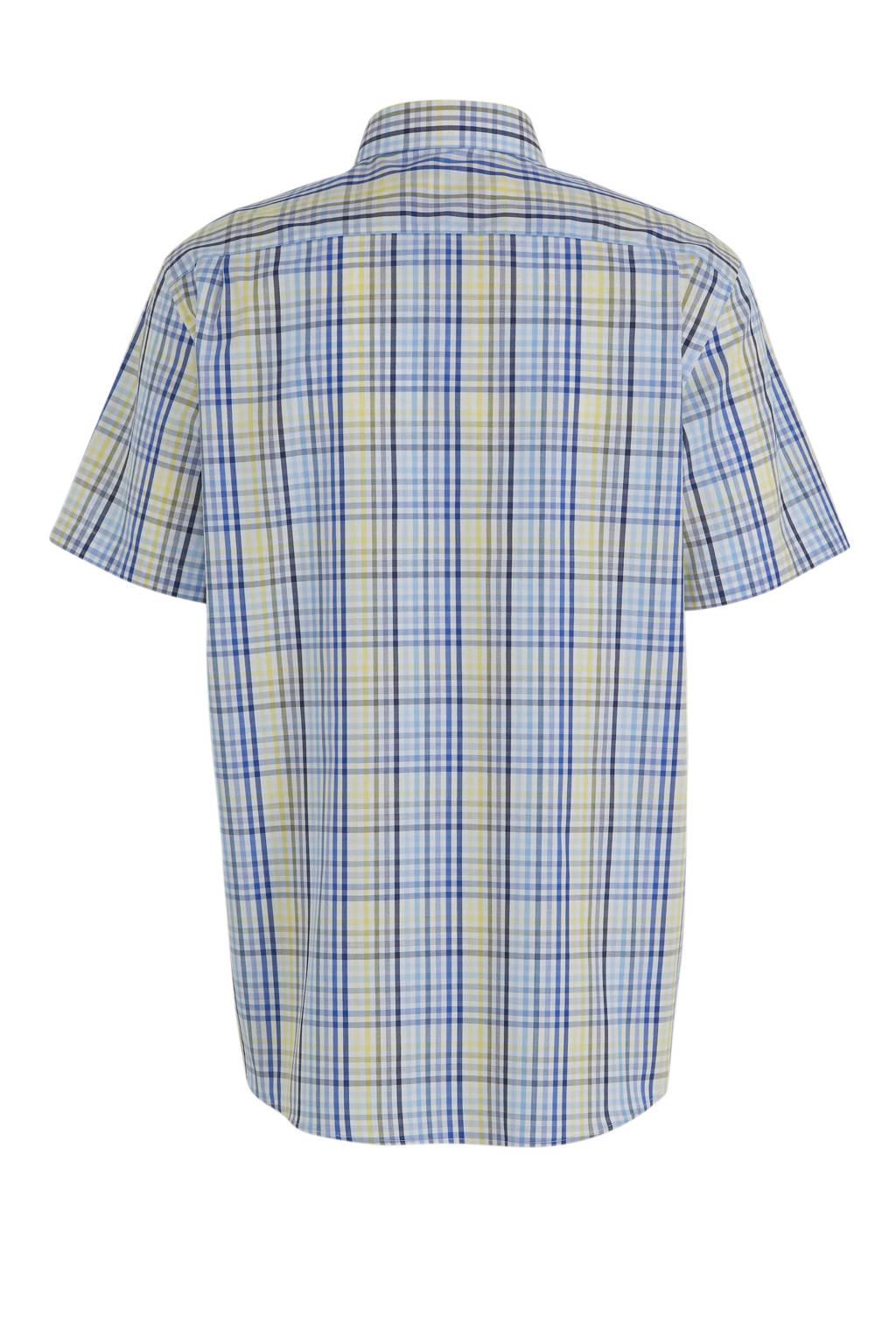 C&A Canda geruit regular fit overhemd blauw, Blauw