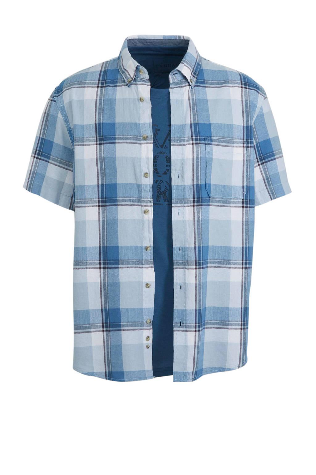 C&A Canda overhemd met T-shirt, Blauw