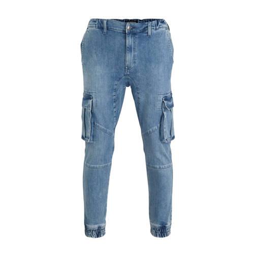 C&A Clockhouse regular fit cargo jeans blauw