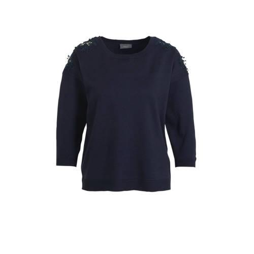 C&A trui met kant donkerblauw