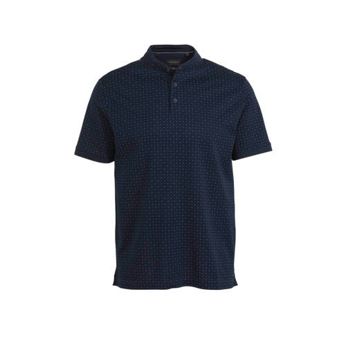 C&A regular fit polo met all over print donker