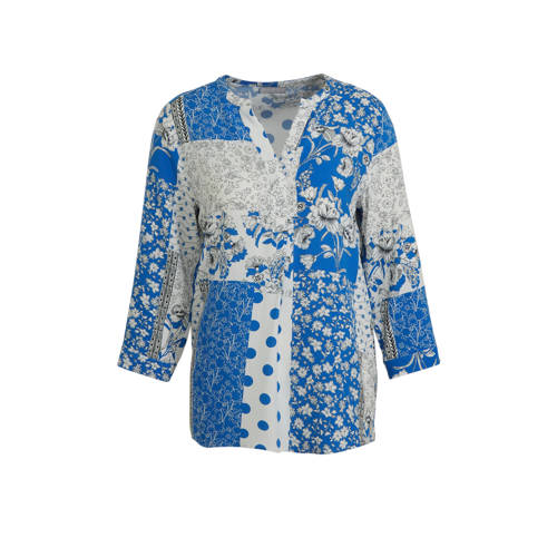 C&A Canda top met all over print blauw