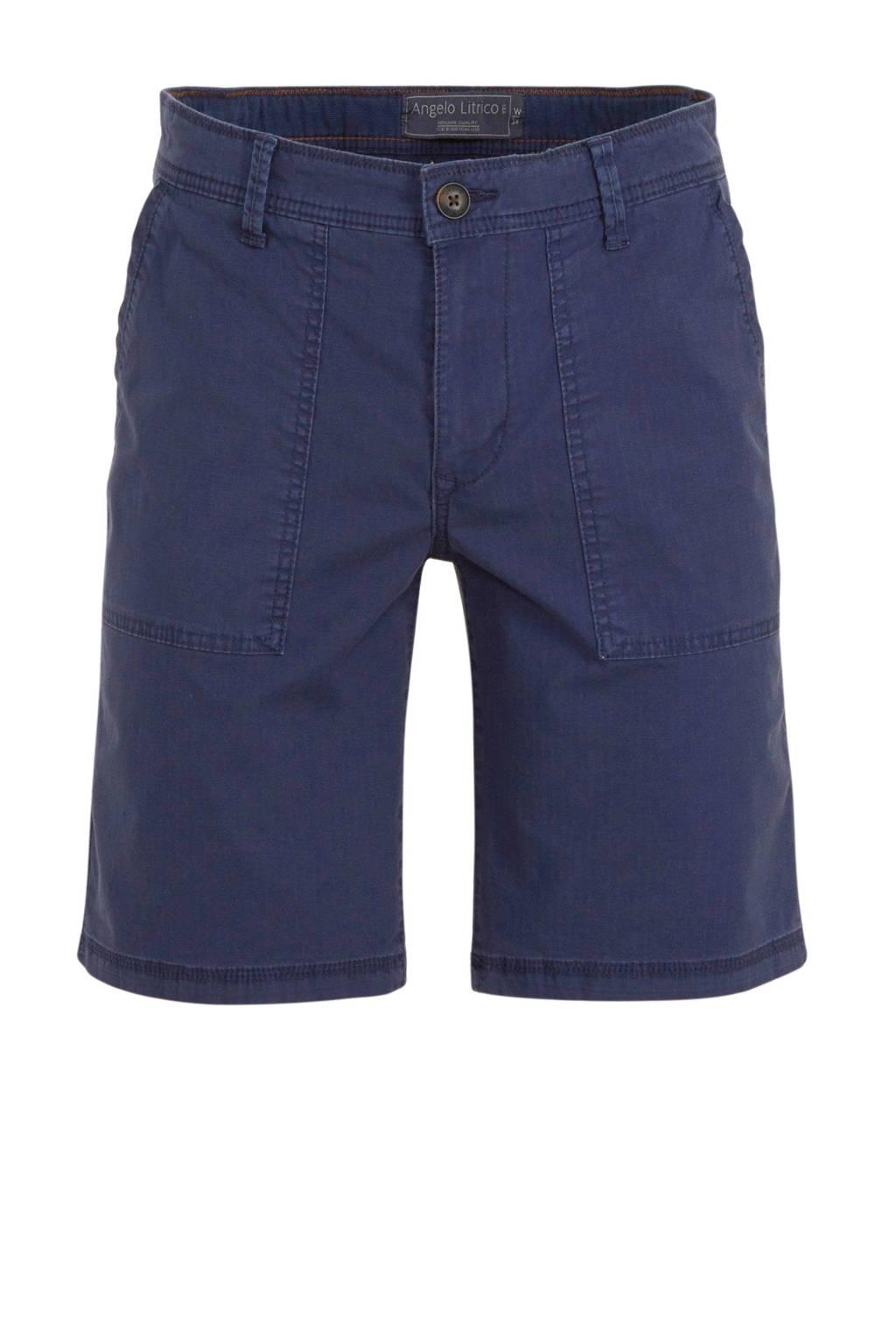 C&A regular fit bermuda donkerblauw, Donkerblauw