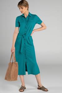 Claudia Sträter blousejurk met ceintuur groen, Petrol