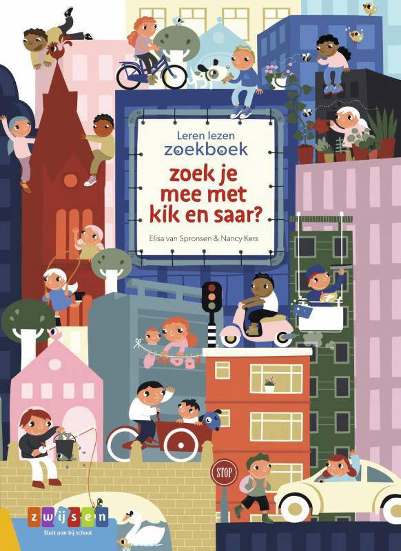 Leren lezen zoekboek: zoek je mee met kik en saar? - Elisa van Spronsen