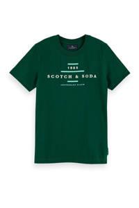 Scotch & Soda T-shirt met logo donkergroen/wit, Donkergroen/wit
