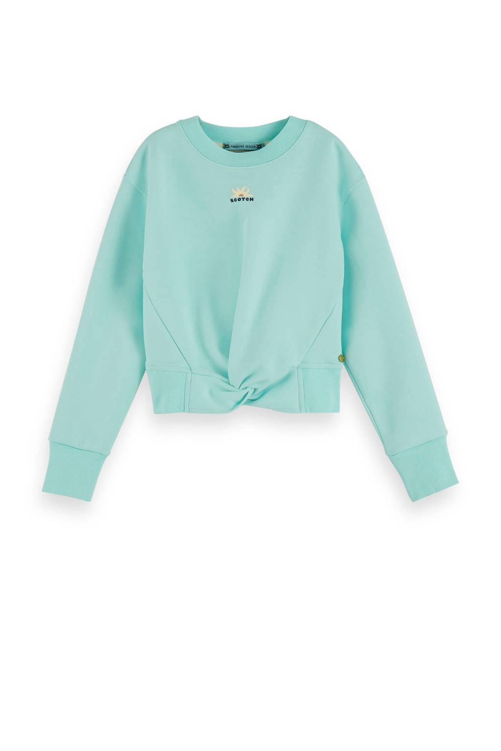 Scotch & Soda cropped sweater lichtblauw, Lichtblauw