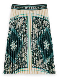 Scotch & Soda rok met all over print ecru/groen, Ecru/groen