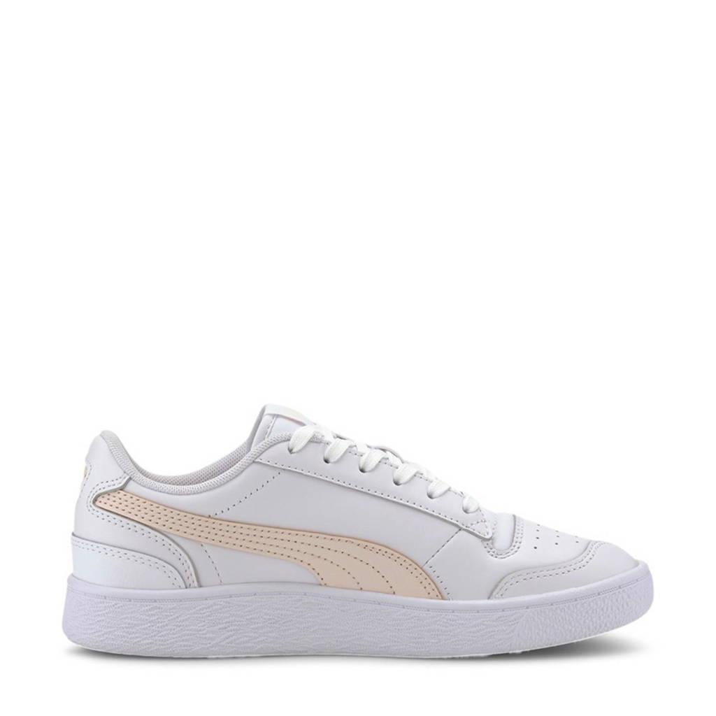 Puma Ralph Sampson Lo  leren sneakers wit/lichtroze, Wit/lichtroze