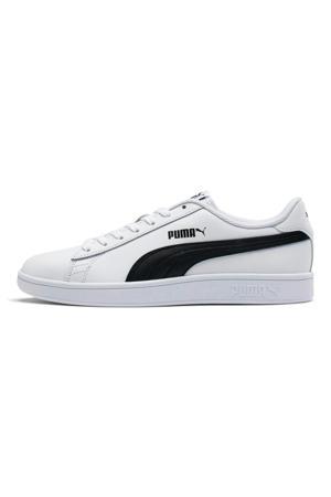 Smash v2  leren sneakers wit/zwart