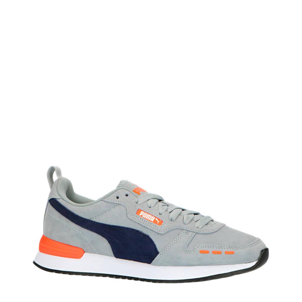 Puma Puma R78  suede sneakers grijs/donkerblauw, Grijs/donkerblauw