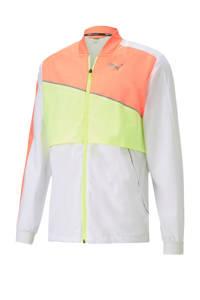 Puma hardloopjack wit/geel/oranje, Wit/geel/oranje