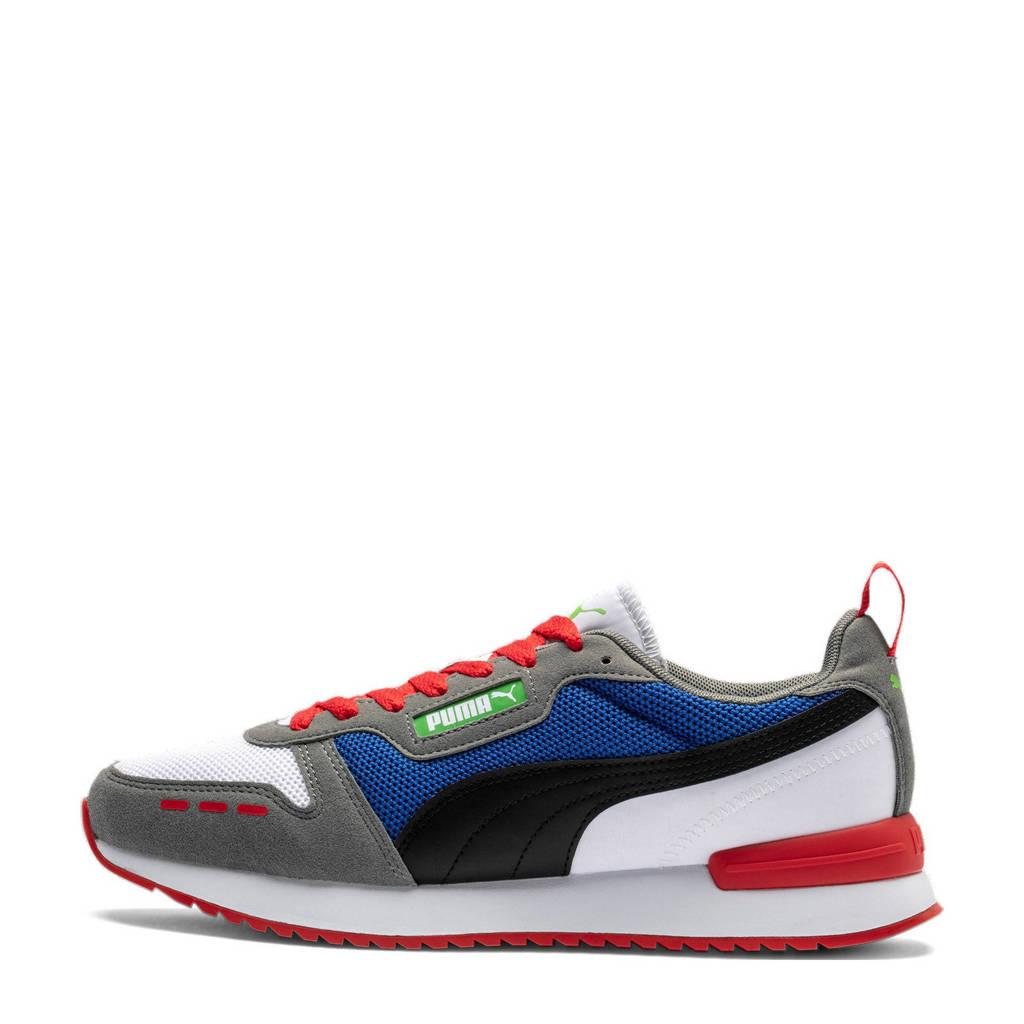 Puma R78  sneakers wit/zwart/rood, Wit/zwart/rood