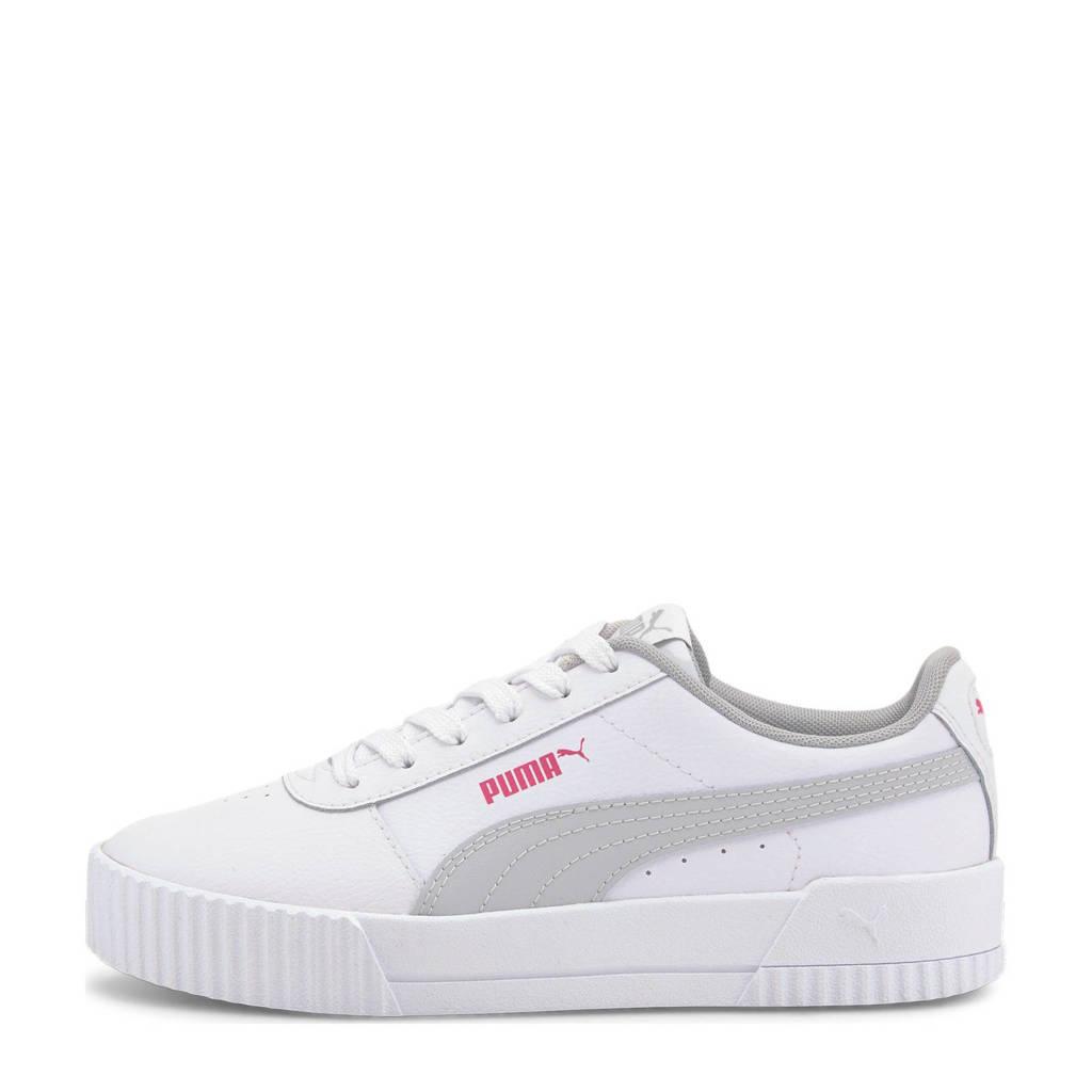 Puma Carina L Jr sneakers wit/lichtgrijs, Wit/lichtgrijs