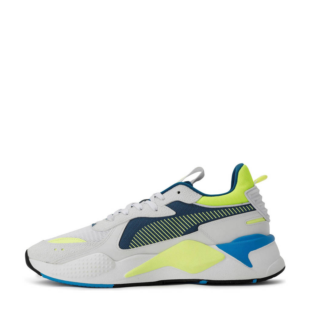 Puma RS-X Hard Drive sneakers wit/geel/blauw, Wit/geel/blauw