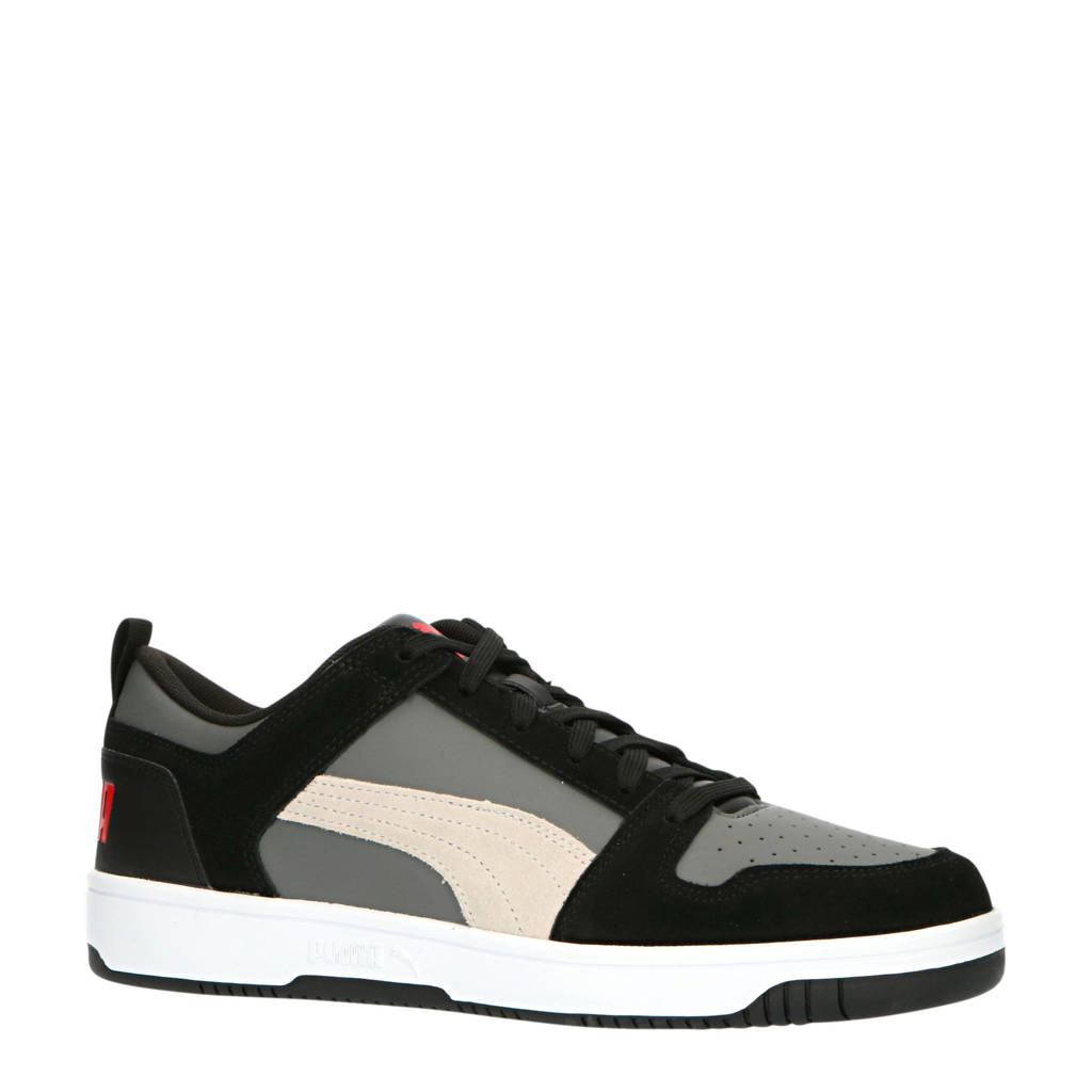 Puma  Rebound LayUp Lo sneakers antraciet/wit, Antraciet/wit