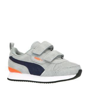 R78  sneakers grijs/donkerblauw/oranje