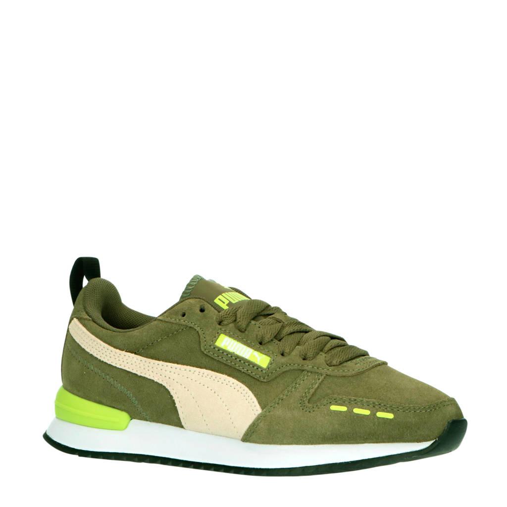 Puma R78 SD Jr sneakers olijfgroen/wit/geel, Olijfgroen