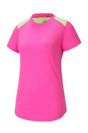 hardloopshirt roze/lime