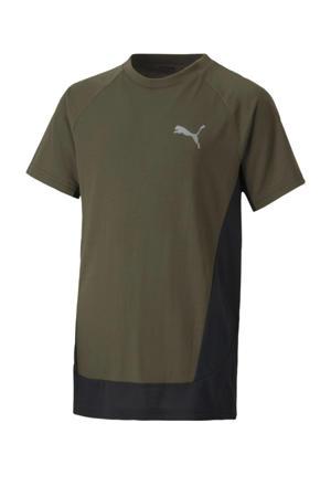 T-shirt groen/zwart