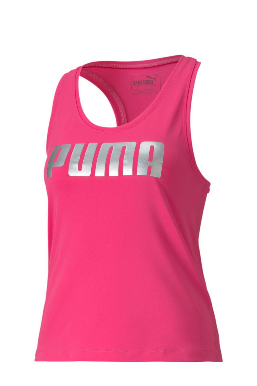 Puma mouwloze top fuchsia, Fuchsia